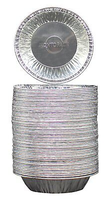 """50-Pack Disposable 5"""" Aluminum Foil Tart Pie Pans Time Switch Round Choice Pies"""