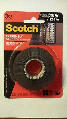 3M Scotch Extreme Mounting Tape, 1 in X 60 in, 20/30lbs*, Double Sided, 414/414P