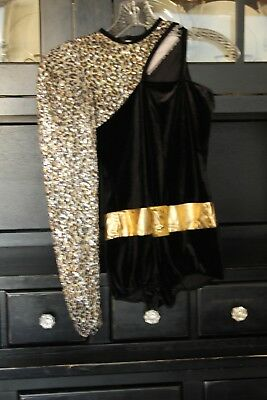 Art Stone leopard and velvet leotard with cut out detail