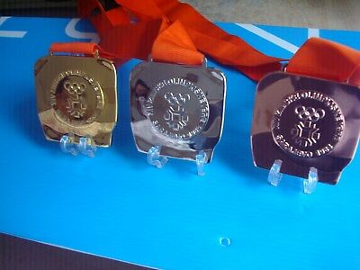 1984 Sarajevo Winter Olympic Medals Set with Ribbons !!!