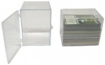 10 BCW Brand 150 Trading Card Capacity Hinged Box / Holder / Case - TCBRHB150