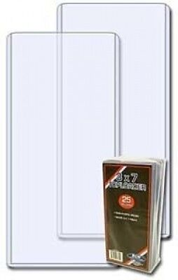 1 (One) Pack of BCW Ticket 3 X 7 Topload Holder (25 Holders/pack) Baseball