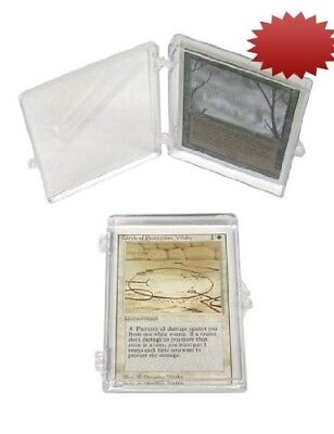 5 BCW Brand 25 Trading Card Capacity Hinged Box / Holder / Case - TCBRHB25 -