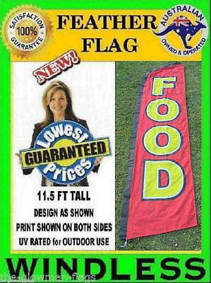 food flag large WINDLESS feather flag for market food shop cafe or takeaway