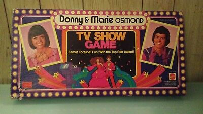 Donny and Marie Osmond TV Show Board Game Vintage 1976 Mattel Rare COMPLETE