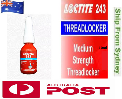 ORIGINAL Loctite 243 10ml Threadlocker Instant Industrial Adhesive Super Glue