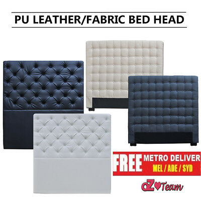 Upholstered NEW Fabric Headboard Bed Double Queen King Size Bedhead Frame