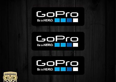 Decals SKU2434-2 x Go Pro Be A Hero Stickers 197mm x 55mm