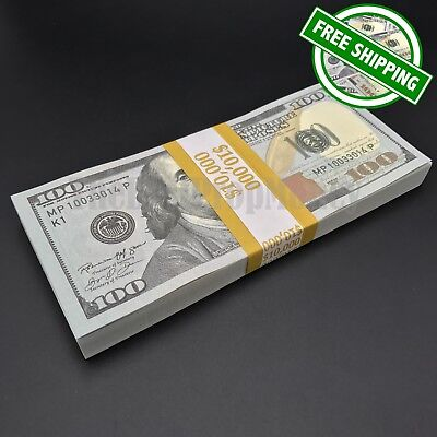 THE BEST PROP MONEY - $10,000 - $100 Bills - Play Fake Funny Joke Prank Money
