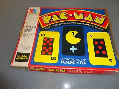 PAC-MAN CARD GAME Vintage 1982 Complete