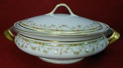 HAVILAND china Limoges France Schleiger 346 Round Covered Vegetable Serving Bowl
