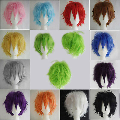 Fancy Dress Women Anime Short Wig Cosplay Party Costume Heat Resistant Dress YF4