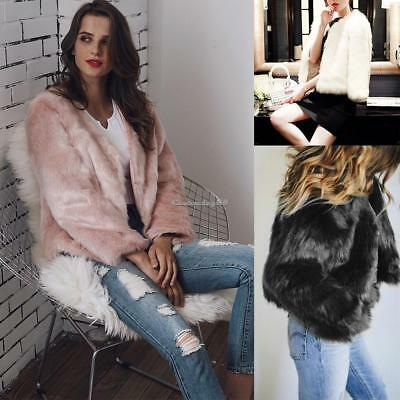 Women Luxury Winter Warm Outcoat Arificial Fur Jacket Lady Top Coat Outwear CY2