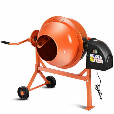 Portable Electric Concrete Cement Mixer 2 1/5 Cubic Ft Stucco Mortar New