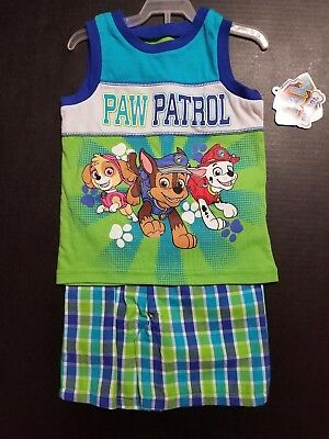 PAW PATROL NWT Outfit SIZES 2T 3T 4T Shorts + Shirt Nickelodeon SHIPS FAST!