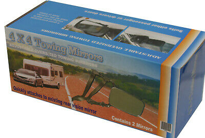 Clip On Towing Mirrors 4Wd For Oversized Mirrors Caravan Boat Trailer
