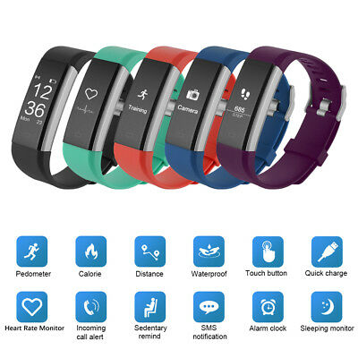 ID115 Plus Smart Bracelet Bluetooth Fitness Activity Tracker Heart Rate Monitor