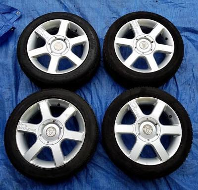 """4x Silver Wolf Race Voodoo Alloy Wheels 15"""" PCD 5x100/108 6Jx16 + Legal Tyres"""