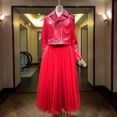 e70ef1ae8c NEW RED TULLE Maxi Skirt Size S - $107.97   PicClick