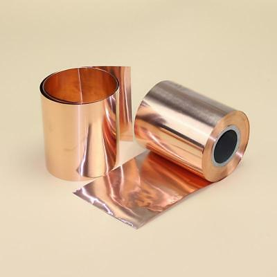 1pcs 99.9% Pure Copper Cu Metal Sheet Foil Plate Strip 0.04mm x 100mm x 1000mm