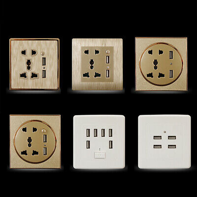 Universal Smart Wall Socket Panel Plate Adapter Switch USB Power Outlet Charger