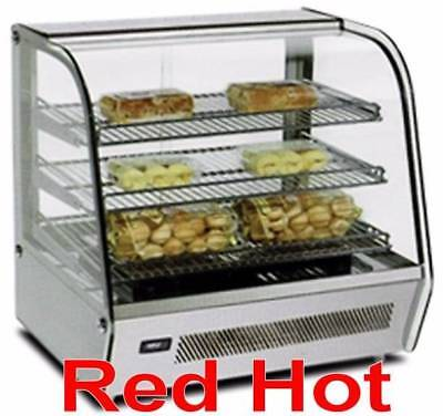 """Omcan 39535 White 27"""" Countertop Hot Food Warmer Glass Display Case DW-CN-0120"""