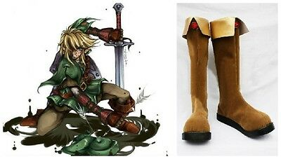 The Legend of Zelda Twilight Princess LINK Costume Cosplay Boots Boot Shoes Shoe