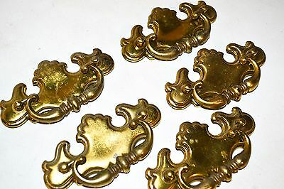 Vintage Drawer Pulls Brass Fancy Large Chippendale Batwing  CP-2521 K77