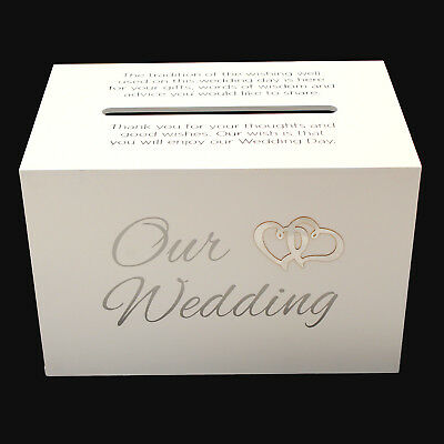 Our Wedding Wishing Well White Gift Card Money Box Cardholder Engagement Gift
