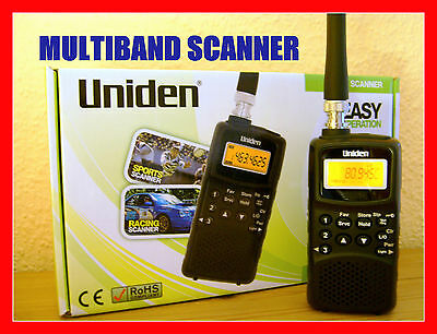 Uniden Scanner Multiband *airband *fire Department *police *taxi *marine Pmr New