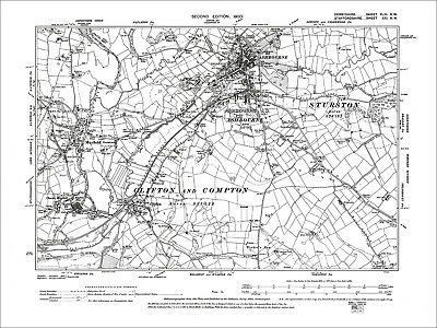 Ashbourne, Clifton, Mayfield, Old Map Derbyshire 1900: 43-NW