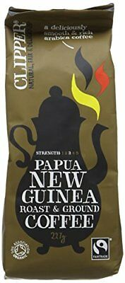 Clipper Organic Fairtrade Papua New Guinea Roast and Ground Arabica Coffee 227 g