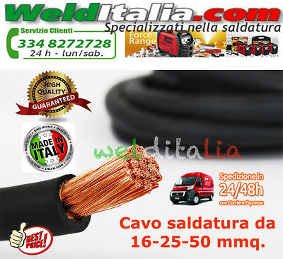 CAVO SALDATRICE IN RAME H01N2-D 1x16-25-35-50 mm² GOMMA SACIT PROFESSIONALE