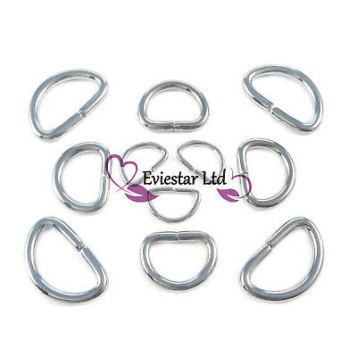 D rings buckles for webbing 304 Stainless Steel 10 13 19mm, Strong Rings, SSDR