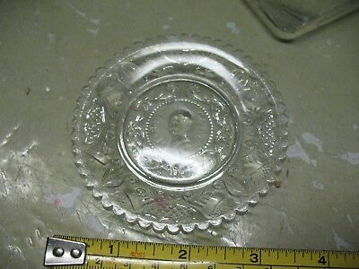 Antique  Sandwich Glass Saucer Henry Clay