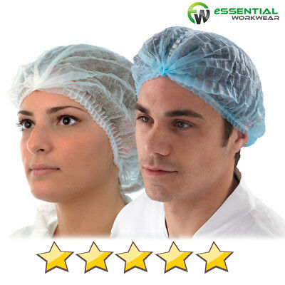 White or Blue Disposable Mob Caps Anti Dust Hair Net Spray Tanning Catering Food