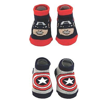 Marvel Comics CAPTAIN AMERICA BABY BOOTIES 2-PACK Size 0-12M