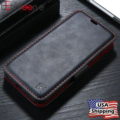 Magnetic Detachable Flip Leather Wallet Case Cover For iPhone XS Max XR X 6s 7 8