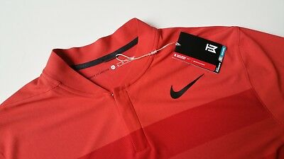 c4dd436e New Nike Tiger Woods TW Zonal Cooling Stripe Blade Polo Shirt, 833171-852,