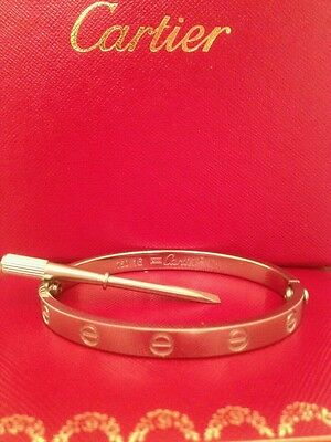 Cartier screwdriver for cartier love bracelet 100% authentic in White Gold NEW