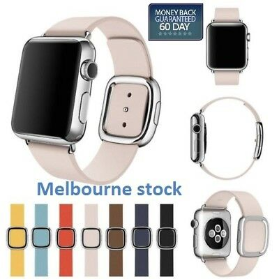 Leather Modern Style Buckle Watch Band Wristwatch Strap for Apple Watch 1/2/3