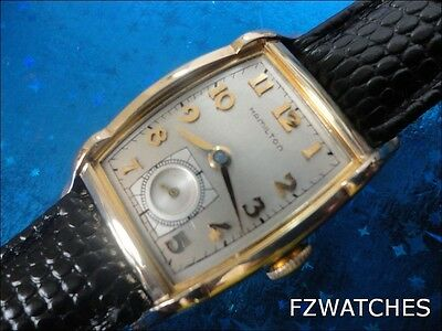 Exquisite Vintage 1952 Mans Hamilton*MEDFORD* Hand Winding Silve  Dial SERVICED!