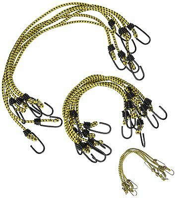 Assorted Bungee Cord Value Pack 18Pcs Vinyl Gauge Steel Coating Corrosion Paint