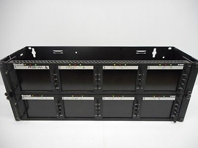 2 Marshall V-R44P Rack Mount 4 Screen LCD Video Monitor Display Systems In Rack