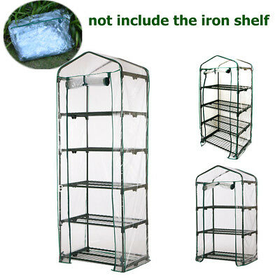 3/4/5 Tier Greenhouse Garden Mini Frame PVC Cover Roll Up Front Grow Plants