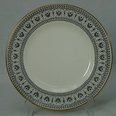 CROWN STAFFORDSHIRE china VICTORIA BLACK pattern DINNER PLATE 10-5/8""