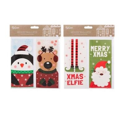 Christmas Money Wallets Pack of 2 Designs