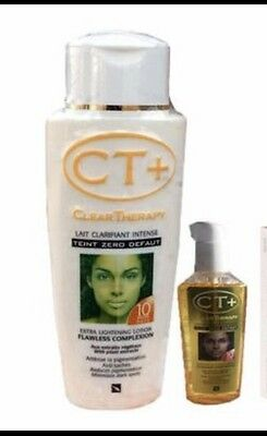 CT+ CLEAR THERAPY EXTRA FAST ACTION  LOTION 250ML & OIL RESULTS IN 10 DAYs