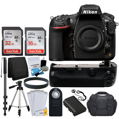 Nikon D810 FX-format 36.3MP Camera Body + 48gb All You Need Great Accesory Kit