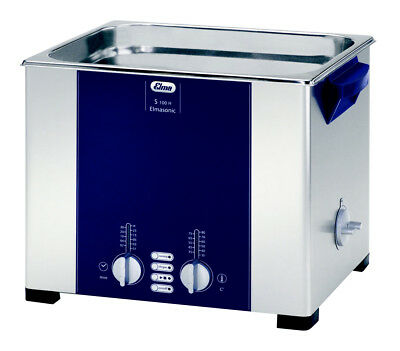 "ELMA S100H 2.5 Gal. Heated Ultrasonic Cleaner, 37kHz, 11.8 x 9.4 x 5.9"", 1007152"